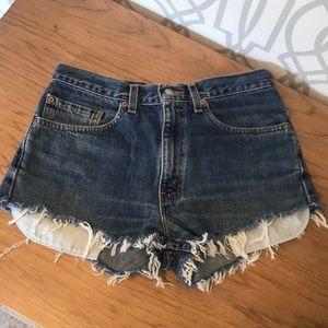 Hi Rise Levi cutoff shorts